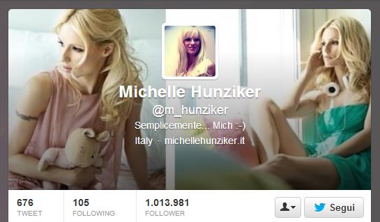 [#socialvip su Twitter] Michelle Hunziker prima donna in Italia da un milione di follower