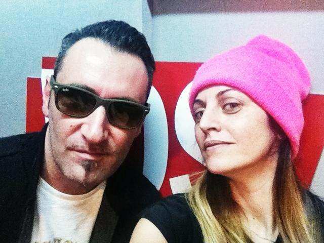 Il selfie di Petra Loreggian e Paolo Piva a Sanremo 2014