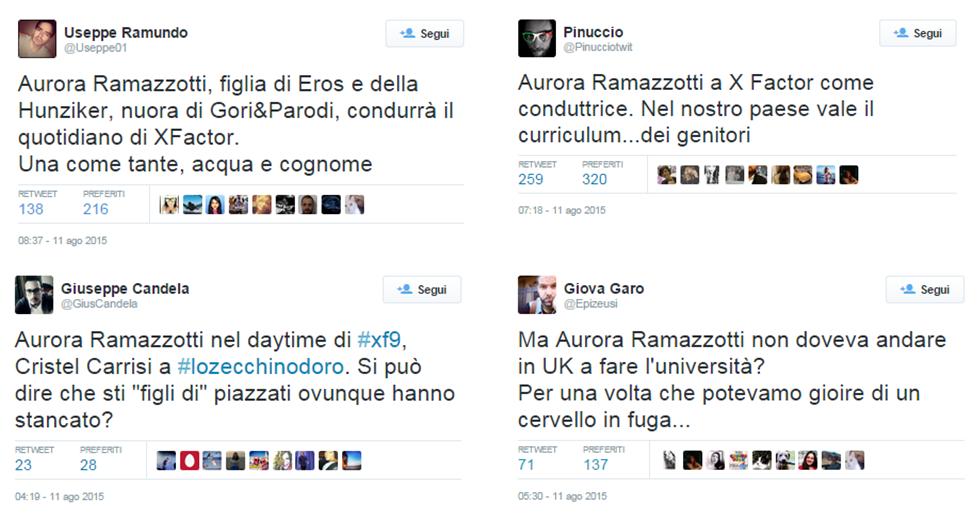 Aurora Ramazzotti, X Factor 9 e le polemiche che aiutano il marketing