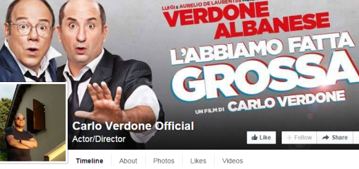 Carlo Verone apre la pagina ufficiale su Facebook