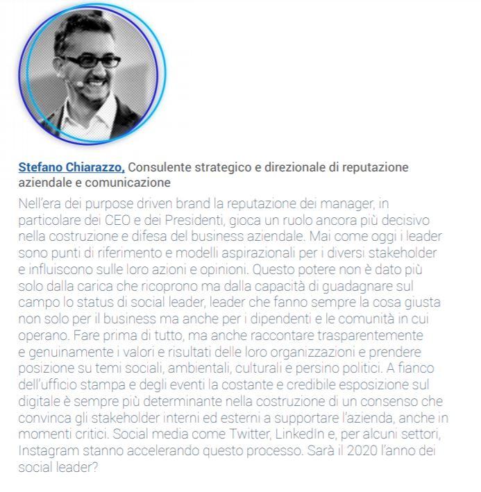 L'intervento di Stefano Chiarazzo nel Report sui Social Media Trend 2020 di TalkWalker e HubSpot