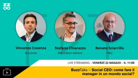 Evento BuzzTalks con Vincenzo Cosenza e Renato Sciarrillo