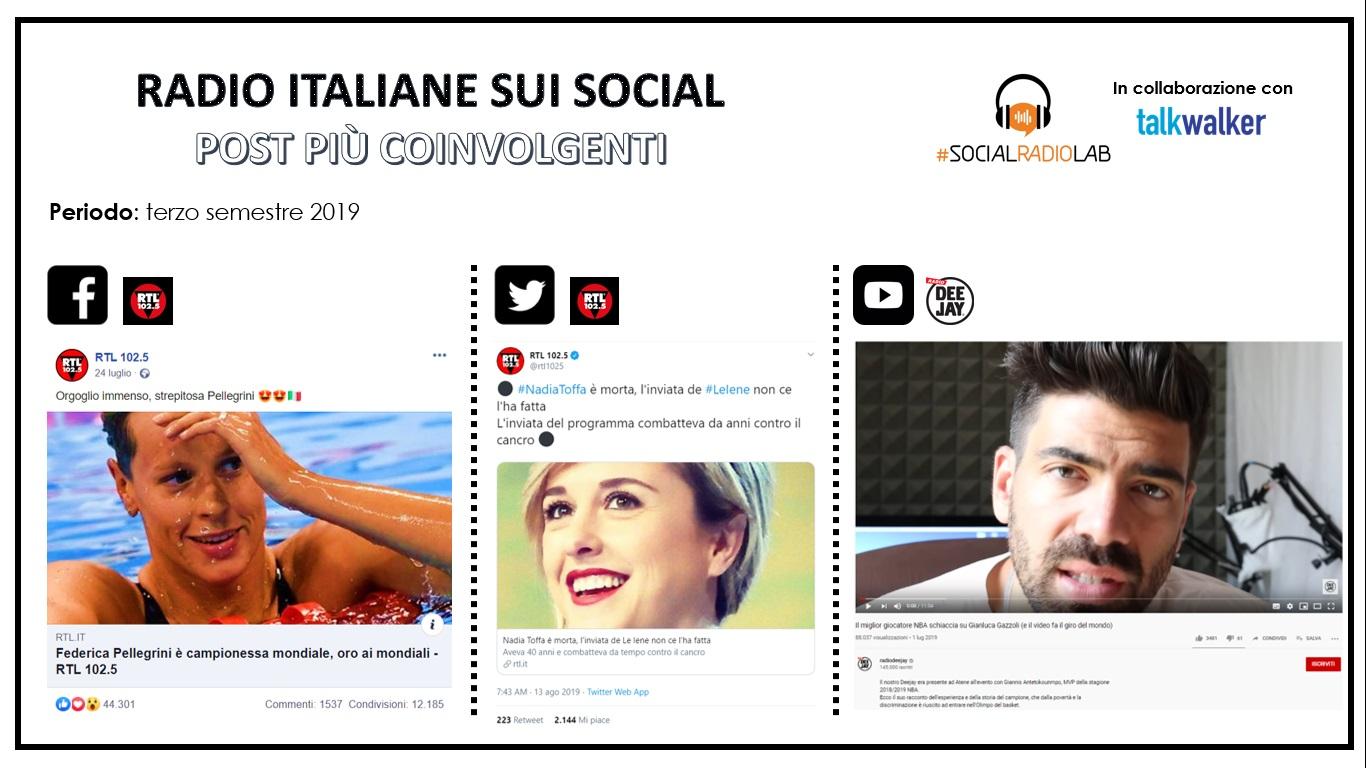 I contenuti più coinvolgenti delle radio italiane sui social