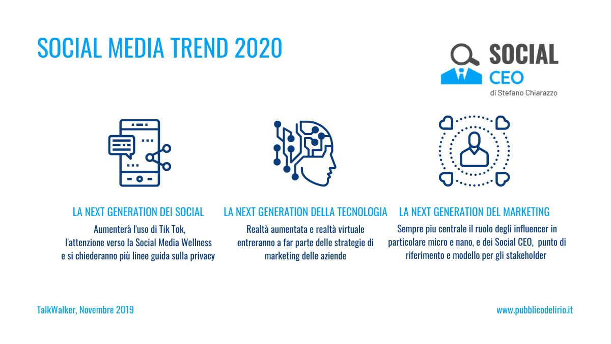 Tutti i Social Media Trend del 2020, l'anno dei Social Ceo
