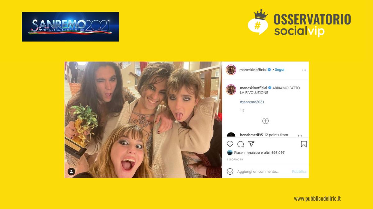 Non solo musica. Sanremo 2021 sui social media tra Covid e Parità di genere