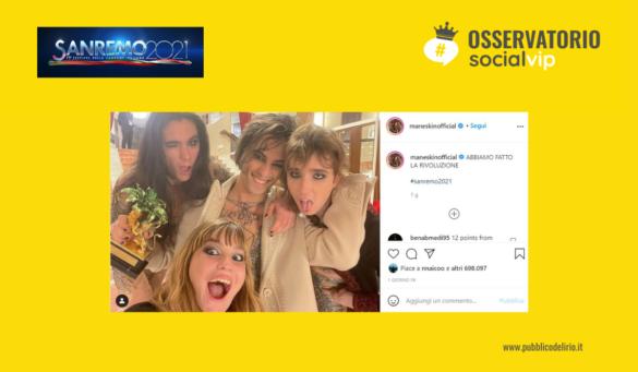 Sanremo 2021 sui social