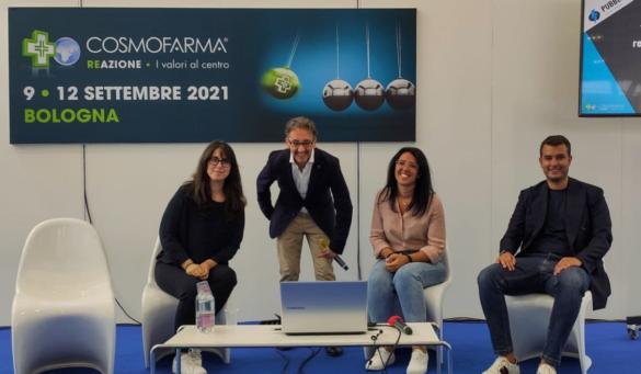 Tavola rotonda Cosmofarma 2021: Arianna Orlando, Stefano Chiarazzo, Rita Bernardi e Francesco Zaccariello